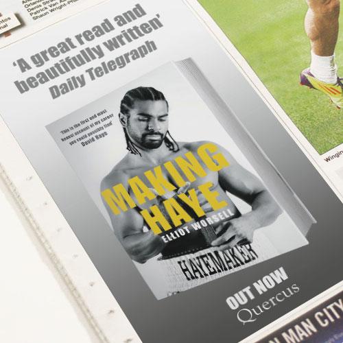 David Haye insert press ad