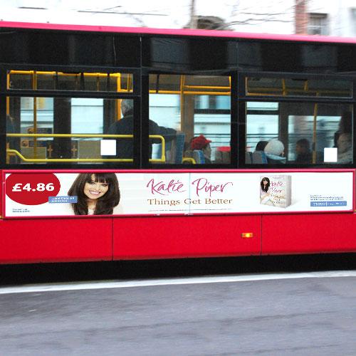 Katie Piper 10ft Streetliner Bus side poster